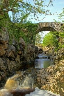Ancient Stone Bridge, Yorkshire Dales, England (if i was a troll i would so live under this bridge.)