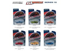 Greenlight Muscle Series 18, 6pc Diecast Car Set 1/64 Diecast Model Cars by Greenlight - Brand new 1:64 scale diecast model car of Greenlight Muscle Series 18, 6pc Diecast Car Set by Greenlight. Limited Edition. Brand New Box. Has Rubber Tires. Opening hood on some. Metal Body and Chassis. Detailed Interior, Exterior. Officially Licensed Product. Each Model is Packed in Individual Blister Pack. Chase car might come instead of one of the cars, but it is not guaranteed. Dimensions of Each Car…
