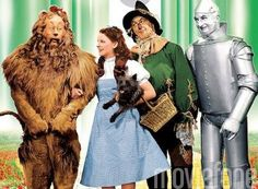 Lion, Dorothy, Toto, Scarecrow and Tinman