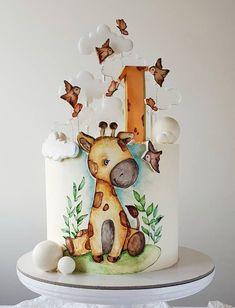 Baby Girl Cakes, Cake Baby, Easy Cake Decorating, Birthday Cake Decorating, Beautiful Birthday Cakes, Beautiful Cakes, 25 Anniversary Cake, Cake Designs For Kids, Buttercream Birthday Cake