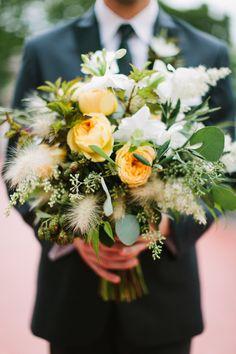 Wedding Bouquet from Frontier Flowers of Fontana | On http://www.StyleMePretty.com/midwest-weddings/2014/03/24/elegant-dusk-wedding-ideas/ Photography: m three studio - mthreestudio.com