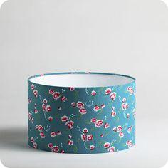 Abat-jour / suspension cylindrique en tissu Petit Pan motif Petite pivoine