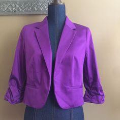Worthington Woman's Medium Suit Jacket Madrid Purple NWT 2/4 Sleeve    eBay