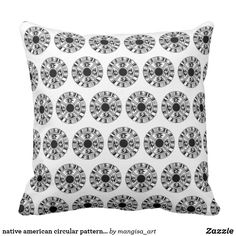 Discover Black pillows to accent your home. Browse our wide-range of designs on decorative & throw pillows and cushions or create your own pillows today! Black Pillows, Circular Pattern, Compact Mirror, Custom Art, Decorative Throw Pillows, Party Supplies, Native American, Create Your Own, Canvas Art