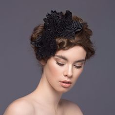 Hand sculpted guipure lace headband CHRISTIE Millinery