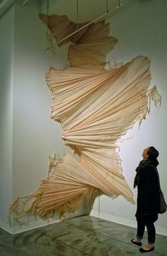 Cascade | Carlie Trosclair (2010) This was re-pinned from Cassanna Croll's pinterest board. Many gallery spaces often have enough room to exhibit installation art - enabling the viewer to interact with the work on a more tangible level.