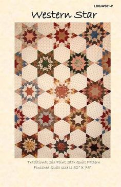 Laundry Basket Quilt of the Day - Western Star Amische Quilts, Cute Quilts, Mini Quilts, Lone Star Quilt, Star Quilts, Quilting Projects, Quilting Designs, Sewing Projects, Crafty Projects