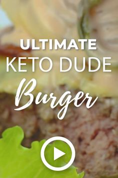 Ultimate Keto Dude Burger by I Breathe I'm Hungry. This easy delicious recipe of keto bunless burger is so amazing that you won't miss the. Low Carb Hamburger Recipes, Ground Beef Keto Recipes, Low Carb Dinner Recipes, Keto Dinner, Bunless Burger, Keto Burger, Ketogenic Recipes, Diet Recipes, Lunch Recipes