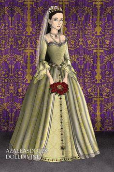 Anne Boleyn's Wedding Gown 1 ~ by QueenAnneBoleyn ~ created using the Tudors doll maker   DollDivine.com