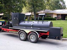 Welcome to BBQ Pits by Klose - King of Que Building custom barbecue smokers and grills for over 30 years. Custom Bbq Grills, Custom Bbq Pits, Bbq Pit Smoker, Smoker Trailer, Food Truck Design, Bar B Q, Smoke Grill, Outdoor Cooking, Outdoor Kitchens