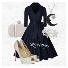 Pretty girl by renesme85 on Polyvore featuring polyvore, beauty, Jewel Exclusive, M&Co, Alexander McQueen and Christian Louboutin