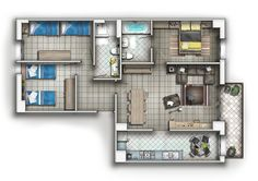 FLOOR PLAN by TALENS3D on DeviantArt