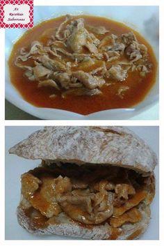 As Receitas Saborosas: Bifanas Sandwich Recipes, Pork Recipes, Cooking Recipes, Bifana Recipe, Brazilian Dishes, Portuguese Recipes, Portuguese Food, Health And Nutrition, Food Truck