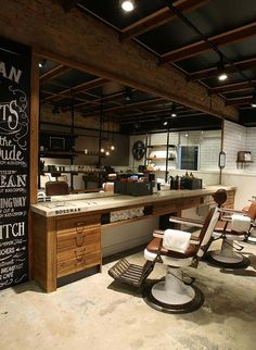 Mens hairdresser ringwood east, barber ringwood east, mens g Design Shop, Salon Design, Shop Interior Design, Interior Decorating, Interior Ideas, Barber Shop Vintage, Best Barber Shop, Barber Shop Interior, Barber Shop Decor
