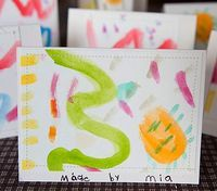 Homemade Watercolor Cards - Things to Make and Do, Crafts and Activities for Kids - The Crafty Crow