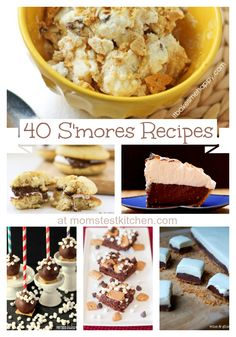Mom's Test Kitchen: 40 S'mores Recipe for National S'mores Day!