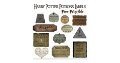 Use these printable Harry Potter potions labels from blog Over the Big Moon and affix to bottles from a local charity shop to stock the party with ready-made