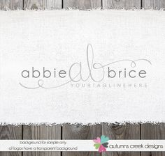 Photography Logo  Initials Logo and Watermark by autumnscreek