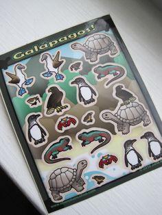Galapagos Vinyl Sticker Set by Phenotypic on Etsy https://www.etsy.com/listing/221343131/galapagos-vinyl-sticker-set