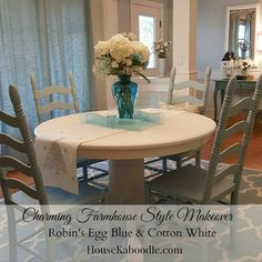 I am excited to share our Farmhouse style table and chairs makeover with you. We have been busy updating our front room and I am happy to finally have the table…