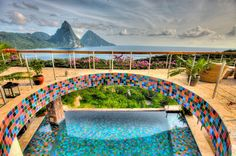 Top-Rated Spas Where the Views Are Just as Relaxing as the Treatments, via Nast Traveler Seen here: Jade Mountain, St. Amazing Swimming Pools, Cool Pools, Awesome Pools, Santa Lucia, Beach Hotels, Hotels And Resorts, Jade Mountain St Lucia, Caribbean Honeymoon, Best Spa