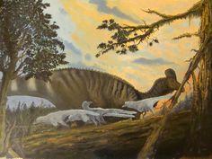 Corythosaurus casuarius and Troodontids - Antresoll