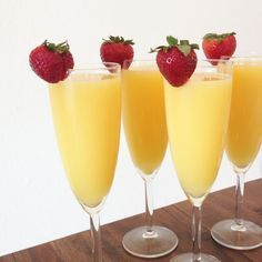 Easy mimosas for bru