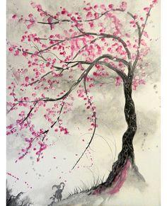 Blossom Tree Tattoo, Blossom Trees, Cherry Blossom Drawing, Japanese Cherry Blossoms, Cherry Blossom Tattoo Shoulder, Cherry Blossom Pictures, Cherry Blossom Japan, Pink Blossom, Cherry Tree Tattoos