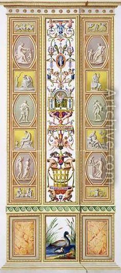 Raphael Pilaster 8). Raphael Sanzio d'Urbino (1483-1520) (after) Ludovico Teseo (intermediate draftsman) Giovanni Volpato (1740-1803) (engraver) Frescoed Pilasters from Loggia di Rafaele nel Vaticano [Loggia of Raphael in the Vatican] _BM