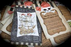ARRRA Pirate Ship/SKULL invite for any by kutekardz on Etsy, $6.75