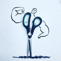 #bodybuilding #objeart #versiyon #üçleme #objectart 3d Pencil Drawings, Easy Drawings, Christoph Niemann, Object Drawing, Drawing For Kids, Doodle Art, Cartoon Art, Collage Art, Flower Art