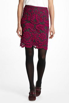 #anthropologie.com        #Skirt                    #Embroidered #Lace #Pencil #Skirt                   Embroidered Lace Pencil Skirt                                                 http://www.seapai.com/product.aspx?PID=1417272