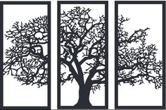 DXF Ai Cdr file for cnc laser plasma router 5 doors 3d Wall Art, Tree Wall Art, Panel Wall Art, Wall Art Decor, Plasma Cnc, Plasma Cutting, Cnc Cutting Design, Plafond Design, Art File