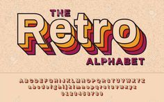 Lettering Fonts Discover Retro Font With VHS effect Vector abc alphabet - Millions of Creative Stock Photos Vectors Videos and Music Files For Your Inspiration and Projects. Calligraphy Fonts, Typography Fonts, Typography Design, Typography Alphabet, Cursive Fonts, 80s Images, Free Images, Dafont, Typographie Logo