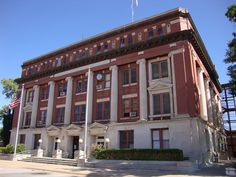 Retired Okmulgee County Courthouse in Okmulgee, OK. The building was built in 1917. The very, top floor was were prisoners jail cells.