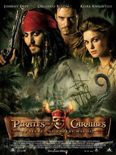 Pirates of the Caribbean: Dead Man's Chest - The high-seas adventures of happy-go-lucky troublemaker Captain Jack Sparrow, young Will Turner and headstrong beauty Elizabeth Swann continues, as Sparrow works his way out of a blood debt with the ghostl All Movies, Great Movies, Disney Movies, Movies Online, Awesome Movies, Movies Free, Popular Movies, Watch Movies, Action Movies