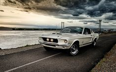 Download wallpapers Ford Mustang Shelby GT350, 4k, muscle cars, 1967 cars, Shelby, tuning, american cars, Ford Mustang, retro cars, Ford