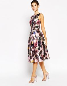 Chi Chi London | Chi Chi London Allover Floral Full Prom Skater Dress at ASOS