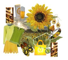 """""""Sunflower"""" by sharee64 ❤ liked on Polyvore featuring Temperley London, Paul Smith, Altea, Dolce&Gabbana, LOQI, NOVICA, Belle Etoile, Natures Jewelry and Elizabeth Arden"""
