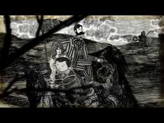 paper cutout animation, layered effects; Film by Giles Timms