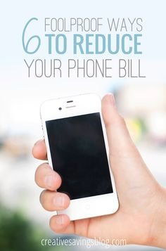 Stop paying for expensive phone plans and try one of these foolproof methods to reduce your bill. #3 saved us almost 25%, and we have never regretted it since! {31 Days to Radically Reduce Your Expenses, Day 15}