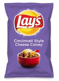 Wouldn't Cincinnati Style Cheese Coney be yummy as a chip? Lay's Do Us A Flavor is back, and the search is on for the yummiest flavor idea. Create a flavor, choose a chip and you could win $1 million! https://www.dousaflavor.com See Rules.