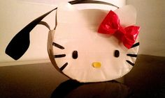 Hello Kitty character purse made with duct tape by DuctTapeCouple, $9.99  @Mary Cook