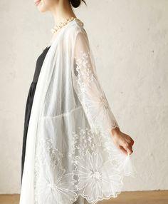【楽天市場】【再入荷♪2月1日12時&22時より】(ホワイト)「french」目を惹く花刺繍の羽織。カーディガン:cawaii