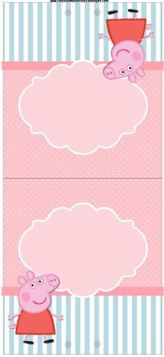 table card, etc. Invitacion Peppa Pig, Cumple Peppa Pig, Pig Birthday, 2nd Birthday Parties, Birthday Ideas, Pig Party, Baby Party, Peppa Pig Printables, Peppa Pig Invitations