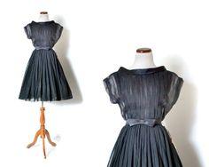 50s Party Dress / Sheer Black Dress / Little Black Dress / 1950s Dress / 1950s Women Clothing Dresses Party / Vintage Clothing Dresses on Etsy, $110.00