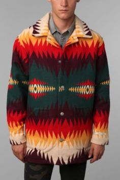 Pendleton Canyon Coat #UrbanOutfitters Pendleton Shirts, Pendleton Woolen Mills, Aztec Cardigan, Bohemian Style Clothing, Look Cool, Urban Outfitters, Casual Outfits, Men Sweater, Mens Fashion