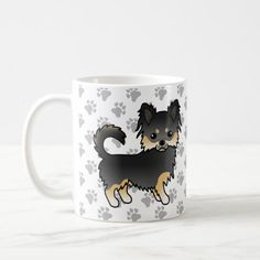 Long Coat Chihuahua, Chihuahua Clothes, Long Tan Coat, Dog Paws, Party Hats, Cute Dogs, Funny Jokes, Create Your Own, Coffee Mugs