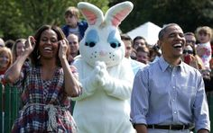 **** [youtube= **** Colorful eggs await the throngs of children attending the annual White House Easter Egg Roll on the South Lawn of the White House in Washington. President Barack Obama high five…