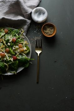 Recipe | Winter Salad with Grapes, Pear, & Manchego